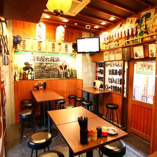 どこか懐かしい酒場の雰囲気にお酒もついついすすみます♪