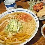 中屋 - かけうどん+天ぷら