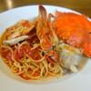 セルクル - 料理写真:セルクル名物!渡りカニのトマトソース(仕入れがある時のみ)