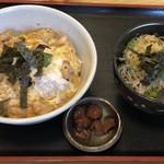 才谷屋 - 親子丼¥690+ぶっかけ蕎麦(ミニ)¥200