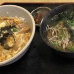 才谷屋 - 親子丼+温蕎麦(ミニ)