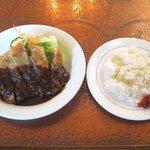 珈琲館もりやま - 日替わり定食(スープ、コーヒー付:1000円)