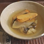 京天神 野口 - 料理写真:海老芋、はも、あわびをとろみたっぷりの出汁で。