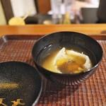 京天神 野口 - すっぽんとフカヒレのお椀。葛で絡めて。
