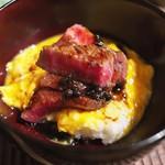 京天神 野口 - 牛丼ではなく、ステーキ丼。