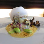MILLE - 広島産の牡蠣を使ったグラチネと十六穀米のリゾット、セミドライの椎茸と平茸