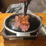 77203333 - 豚三枚肉とキムチを