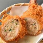 津多家 - 肉汁ジュワー 人気の手羽メンチカツ 230円