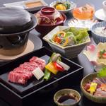 日本料理 華厳 - 料理写真:但馬牛ステーキ御膳