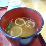 ねざめホテル - 味噌汁