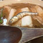 烈志笑魚油 麺香房 三く - かけ(大盛)