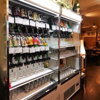 【日本酒バー】単品注文でもOKのセルフ飲み放題