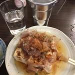 平野屋 - 湯豆腐+熱燗