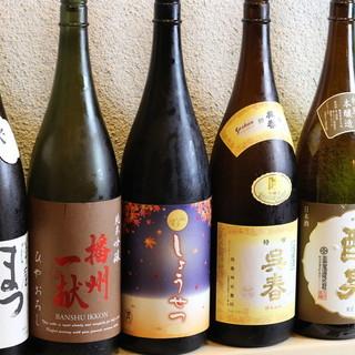関西の地酒7種+「隠しネタ」あり充実の日本酒