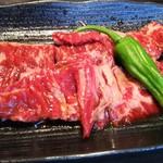 南大門 - 焼肉B定食のハラミ