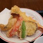 玄蕎麦 野中 - 大きな海老の天ぷら