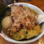 阿闍梨 - 料理写真:味玉一番だしラーメン+かき揚げ