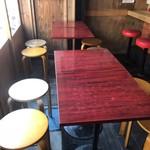 やきとんひなた - テラス風のテーブル席
