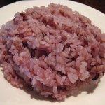 7722631 - ライスは古代米? 鮮やかな色のご飯が出てきます
