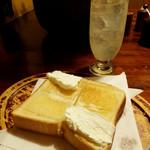 リスボン - クリームトースト&レモンジュース(生搾り)