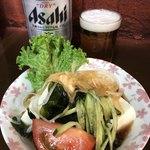 鳥万 - スターターの豆腐サラダ