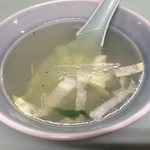 77228318 - 炒飯についてくるスープ