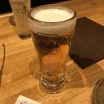 炭火焼肉 銘特屋 - 生ビール
