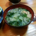 かつ義 - 「定食」の白味噌