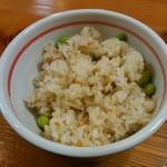 かつ義 - 「定食」の五穀ご飯