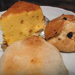 クロックムッシュ - 南瓜ケーキ・スコーン・カマンベールチーズパン