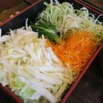 かごの屋 - ・「最初の野菜盛り合わせ」。