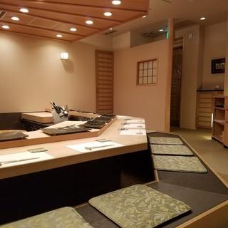 【個室あり】職人の技を目の前に五感で楽しめる贅沢空間