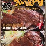 肉屋の肉バル TAJIMAYA - 熟成肉メニュー