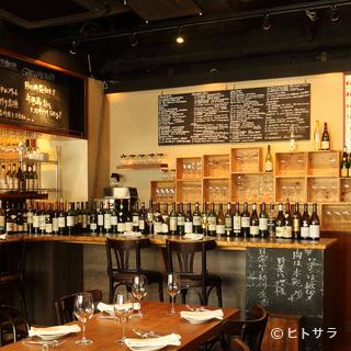 ワインは仏産を中心に150〜200種、ローカルワインな...