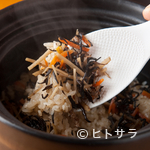 味農家 - 日本全国、様々なブランド米を味わえる『<食事>土鍋炊き込みご飯』