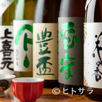 味農家 - 全国から厳選された地酒が常時6〜8種類と豊富