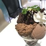タカノフルーツパーラー - チョコアイス、チョコブラウニー、チョコムース
