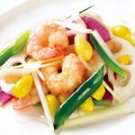 南国酒家 - 天然海老と彩り野菜のあっさり天日塩炒め