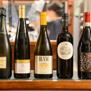 イタリアンには欠かせないワインを多数取り揃え◎