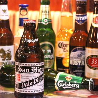 世界のビールをご用意!10か国15種類のビールが楽しめます!