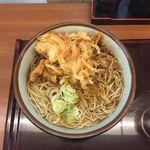 文殊 - かき揚げ蕎麦(380円)