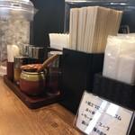 麺場 田所商店 - 卓上