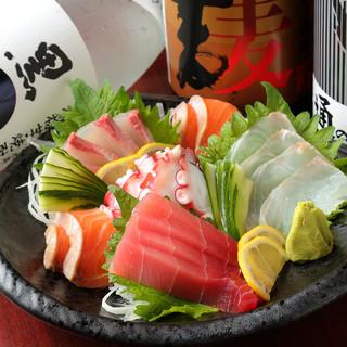 必食!自慢の海鮮「お造りの盛り合わせ」