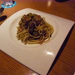 バー ラポート - マトンのラグーとナスのタリアテッレ トマトソース