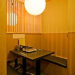 かに福 - 1階のテーブル席