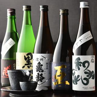 信州の厳選された日本酒あります