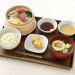 shop×cafe - 生麩と冬野菜のせいろ蒸しランチ【季節限定:12/1~2/28】