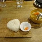 こめどこ食堂 - 藻塩のおにぎり