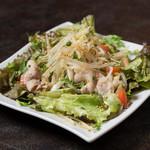 温野菜と三元豚の温しゃぶサラダ
