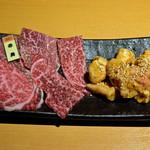 ギュウガテイ - 乙女和牛赤身肉 950円・アカセンマイ600円
